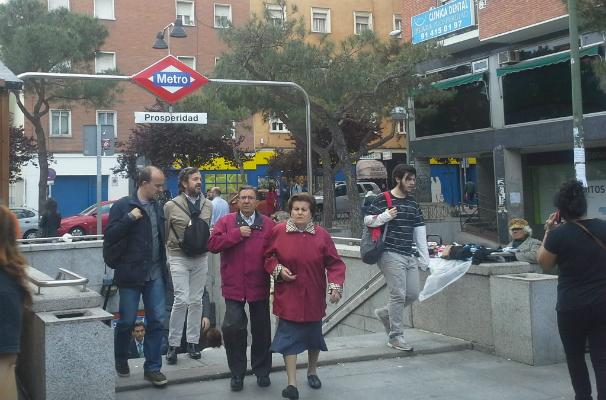 Prosperidad da la bienvenida pero también despide en la plaza de la Prosperidad. Foto: M. N. M