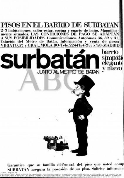 Publicidad de Batán publicada en ABC en 1967