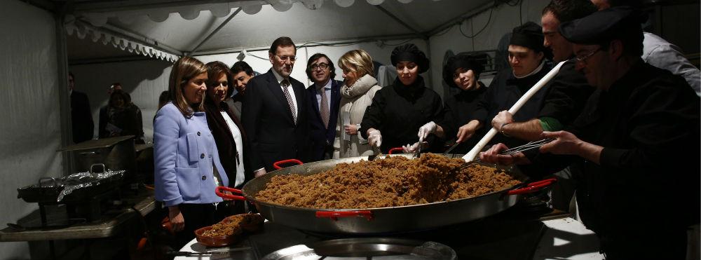 Rajoy, Aguirre y el alcalde de Arganda del Rey