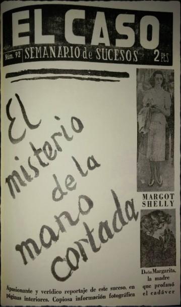 """""""El misterio de la mano cortada"""", portada de """"El Caso"""""""