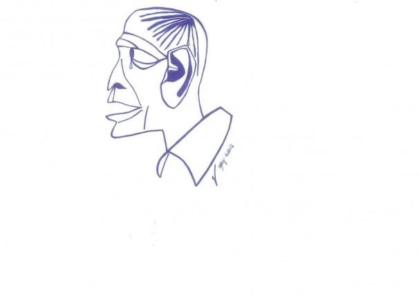 Rui Araujo. Ilustración por Pepe López