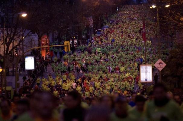 30.000 corredores participaron en la San Silvestre 2008. Foto:Francisco Seco