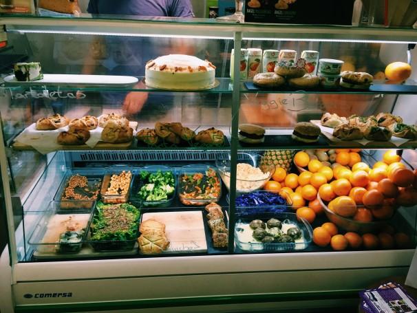 «Bagels», «wraps» y tartas vegetarianas. Foto: Lucía Bretón