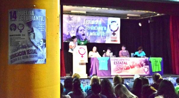 Ana García en el segundo encuentro estatal de Libres y Combativas Foto: M. Lozano