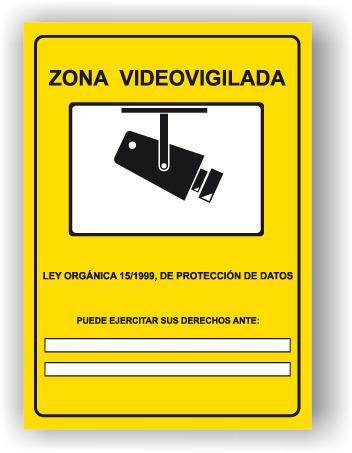 Cartel tipo de la Agencia de Protección de Datos
